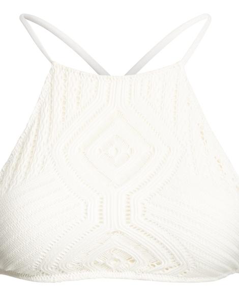 Crochet-Overlay Bikini Top