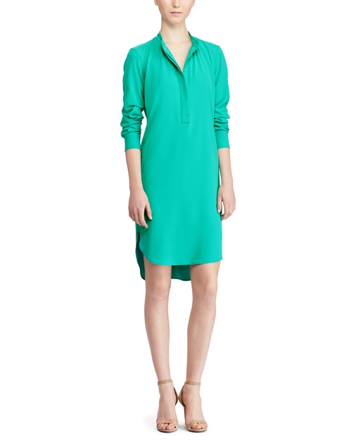 produt-image-1.0. produt-image-2.0. Women Clothing Dresses & Jumpsuits  Dresses Crepe de Chine Shirtdress. Lauren