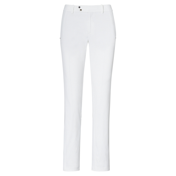 Ralph Lauren Straight Stretch Sateen Pant White 10