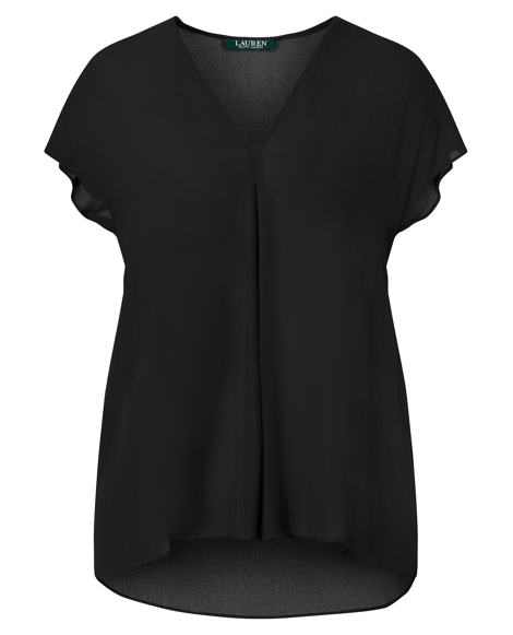 Georgette Short-Sleeve Top
