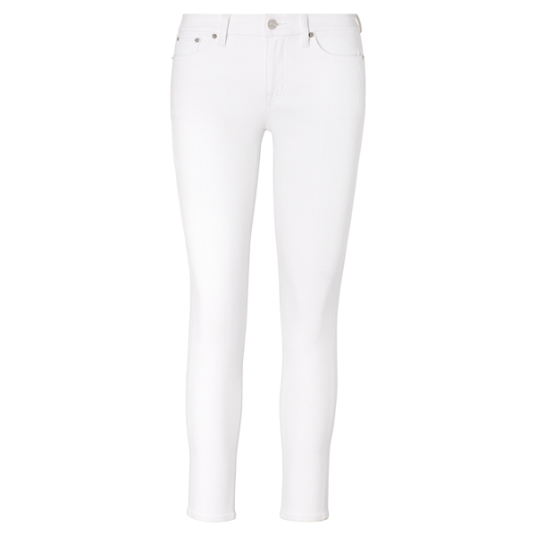 Ralph Lauren Premier Skinny Ankle Jean White 10P