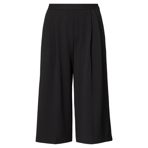 Ralph Lauren Jersey Wide-Leg Pant Polo Black 1X
