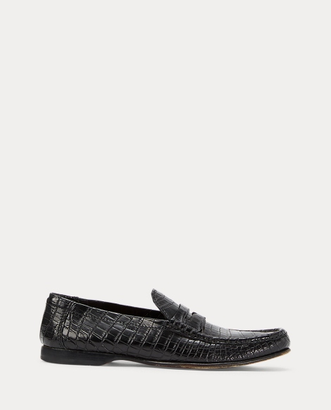 Iliana Crocodile Penny Loafer