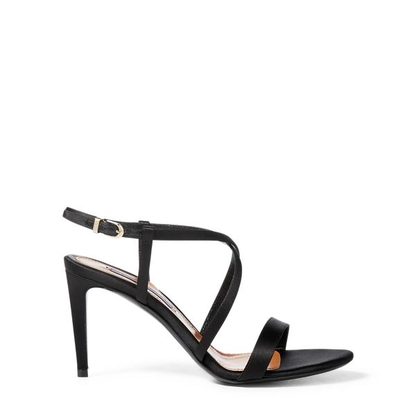 Ralph Lauren Arissa Satin Sandal Black 36.5
