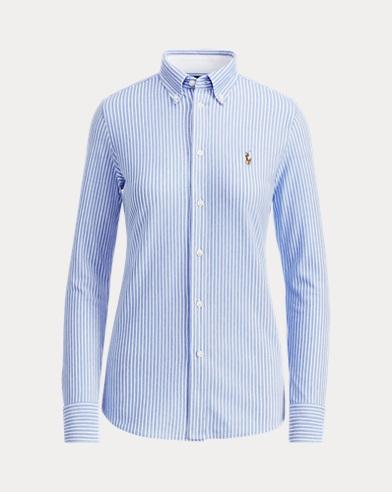 Striped Knit Oxford Shirt