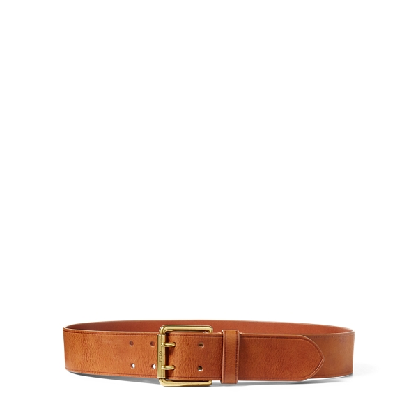 Ralph Lauren Double-Prong Leather Belt Cuoio S