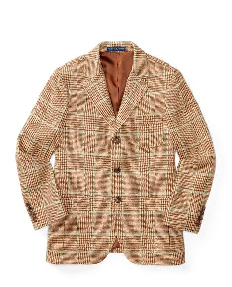 Glen Plaid Silk Sport Coat
