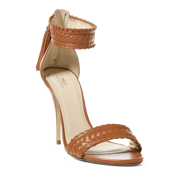 Ralph Lauren Ramira Nappa Leather Sandal Tan 9