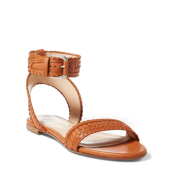 Ralph Lauren Jaime Nappa Leather Sandal Tan 8.5