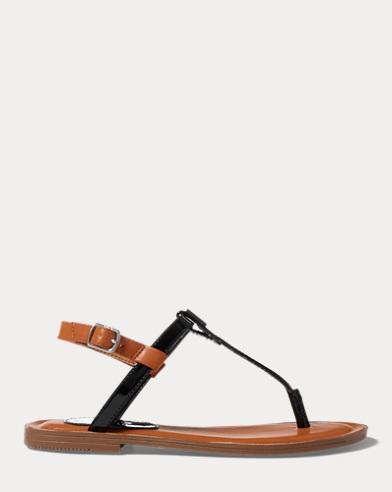 Patent Thong Sandal