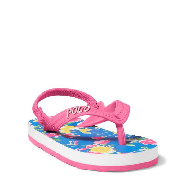 Ralph Lauren Hailey Floral Flip-Flop Blush Pink/Blue Multi 3