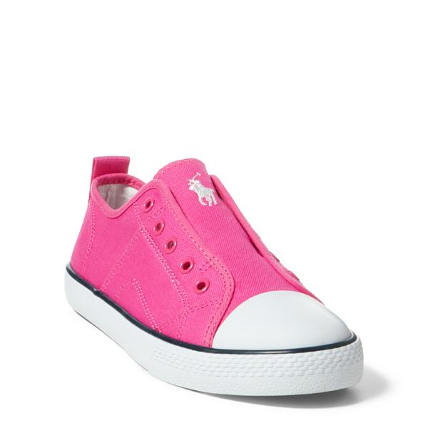 Ralph Lauren Ryland Canvas Laceless Sneaker Fuchsia Canvas 5