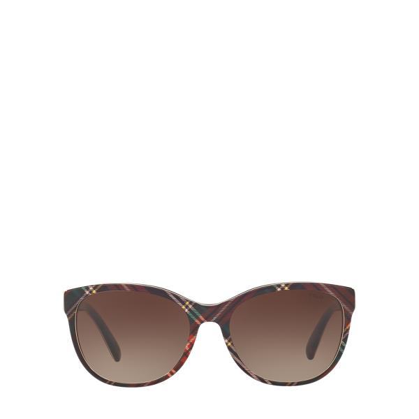 Ralph Lauren Tartan Butterfly Sunglasses Black Tartan One Size