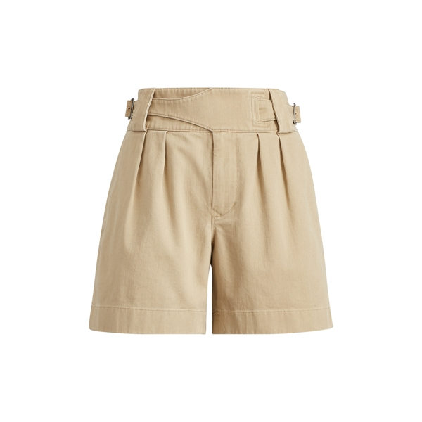 Ralph Lauren Pleated Twill High-Rise Short Village Khaki 6