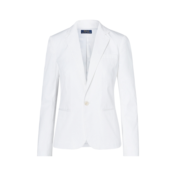 Ralph Lauren Stretch Cotton Twill Blazer Pure White 8