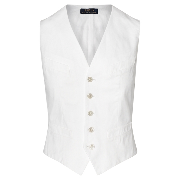 Ralph Lauren Stretch Cotton Twill Vest Pure White 10