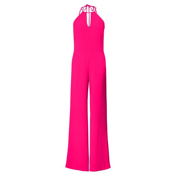Ralph Lauren Crepe Keyhole Jumpsuit Shocking Pink 4