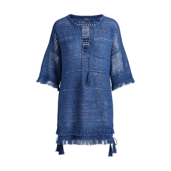 Ralph Lauren Linen Tunic Sweater Indigo Xs