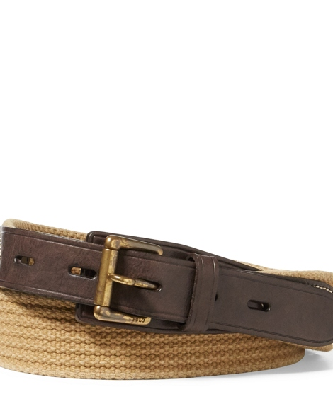 Leather-Webbed Cotton Belt