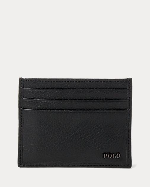 produt-image-0.0. produt-image-1.0. Men Accessories Wallets & Small  Accessories Metal-Plaque Leather Card Case. Polo Ralph Lauren