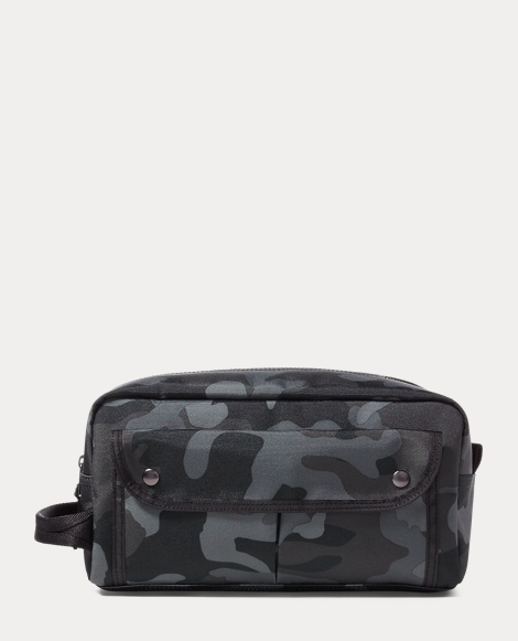 Camo-Print Nylon Shaving Kit
