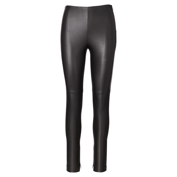 Ralph Lauren Eleanora Stretch Leather Pant Black 2