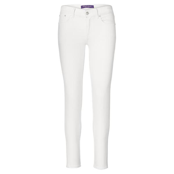 Ralph Lauren 400 Skinny Ankle Jean Rinsed White 25