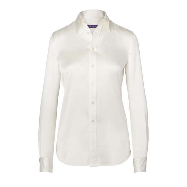 Ralph Lauren Cindy Silk Shirt Cream 10
