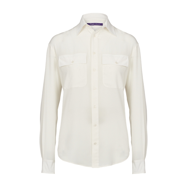 Ralph Lauren Antoinette Silk Shirt Cream 4