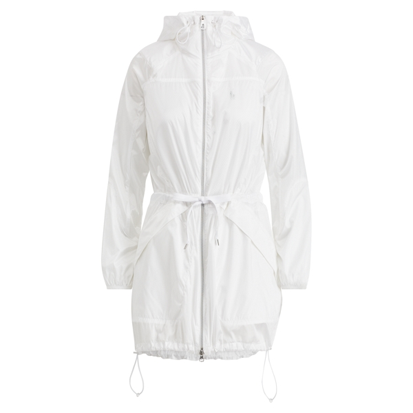 Ralph Lauren Water-Repellent Nylon Coat White Xs