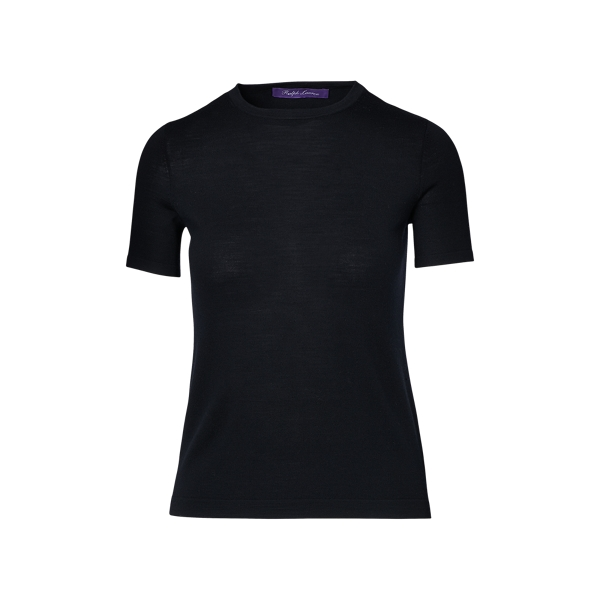 Ralph Lauren Merino Short-Sleeve Sweater Black S
