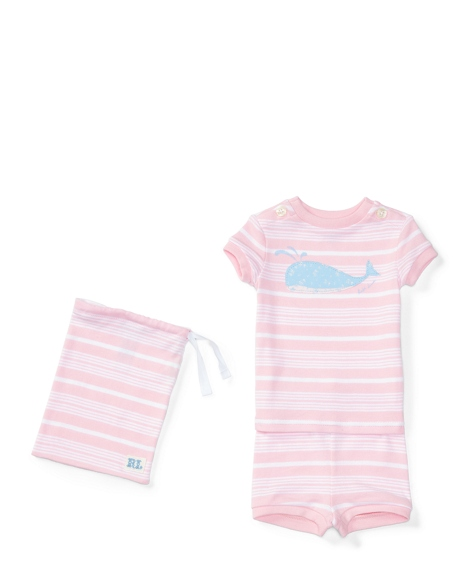 Striped Cotton Sleep Short Set