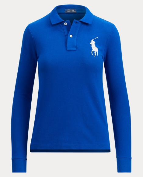 Skinny Fit Long-Sleeve Polo