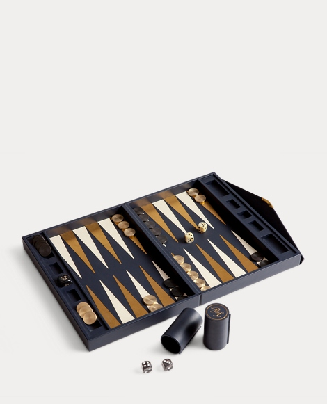 Sophie Leather Backgammon Set