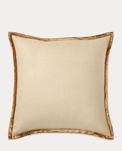 Larisa Python-Trim Silk Pillow