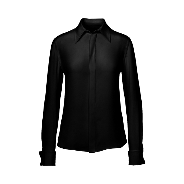 Ralph Lauren Francoise Silk Shirt Black 2