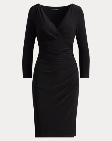 Jersey Faux-Wrap Dress