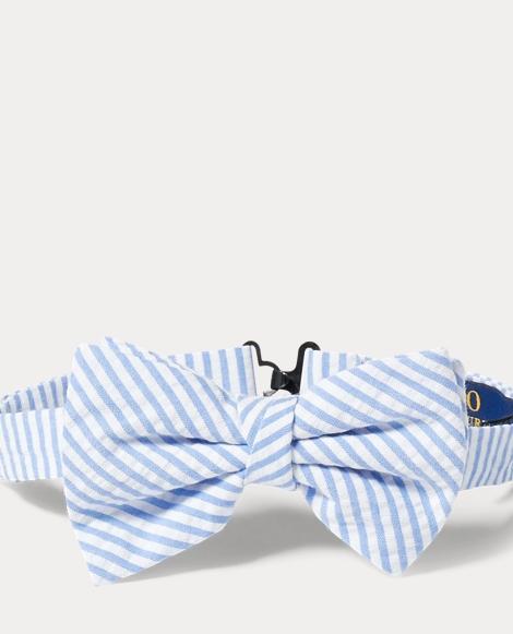 Cotton Seersucker Bow Tie