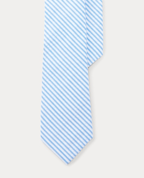 Cotton Seersucker Tie
