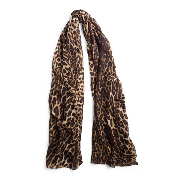 Ralph Lauren Leopard-Print Cashmere Scarf Leopard One Size