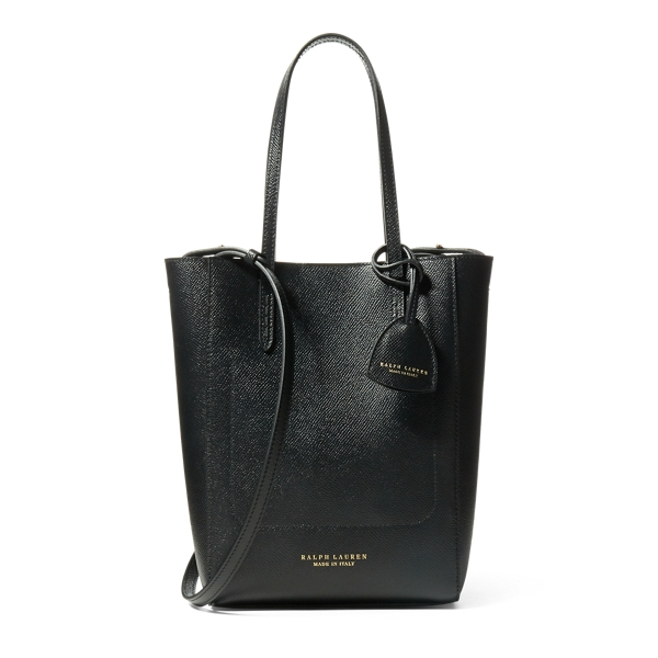 Ralph Lauren Embossed-Calf Mini Modern Tote Black One Size