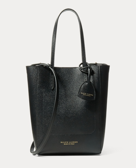 Embossed-Calf Mini Modern Tote