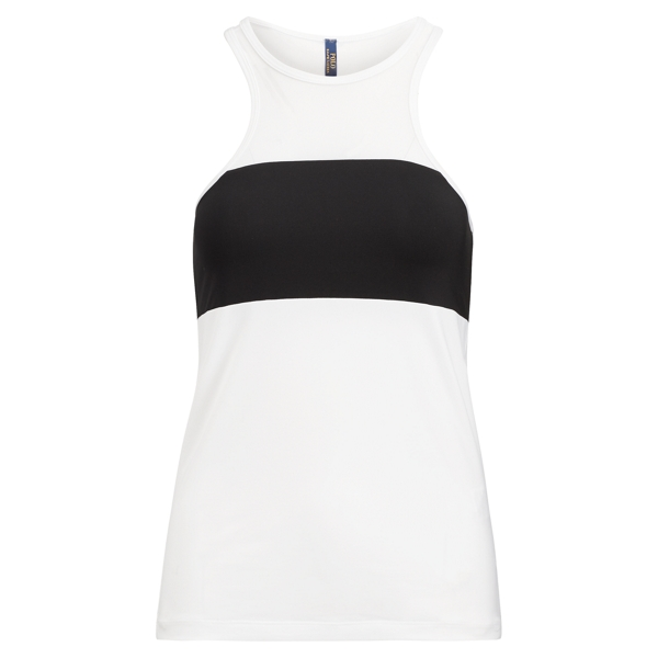 Ralph Lauren Mesh-Panel Color-Blocked Tank White Xs