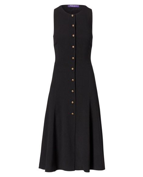 Elora Wool Fit-and-Flare Dress