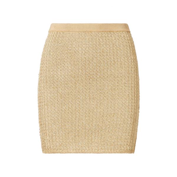 Ralph Lauren Metallic Miniskirt Gold M