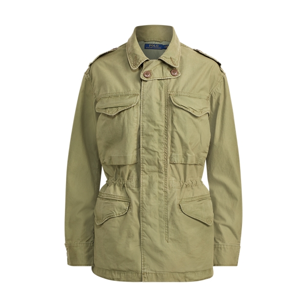 Ralph Lauren Cotton Twill Military Jacket Army Olive M