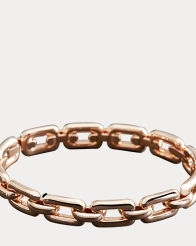 Wide Rose Gold Bangle