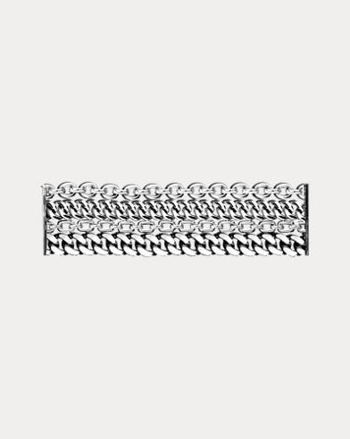 Silver 4-Chain Bracelet