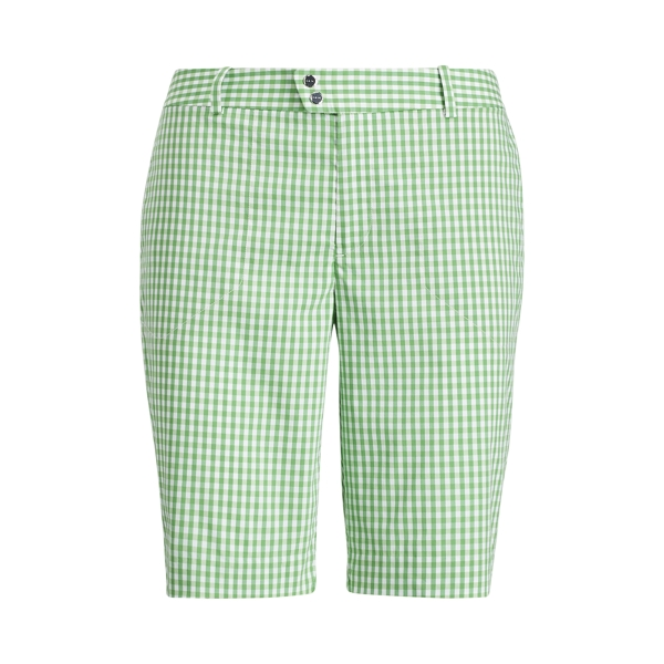 Ralph Lauren Gingham-Print Cotton Short Green Gingham 2