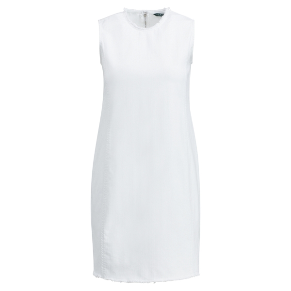 Ralph Lauren Denim Sheath Dress White 16